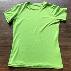 Nike Dri-Fit T-Shirt in Lime Green